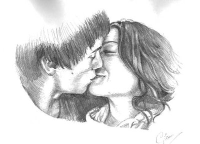Pencil Drawing Romantic Couple